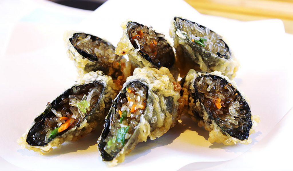 チャプチェキムマリ天ぷら